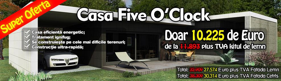 Oferta Casa din Lemn - Five O'Click